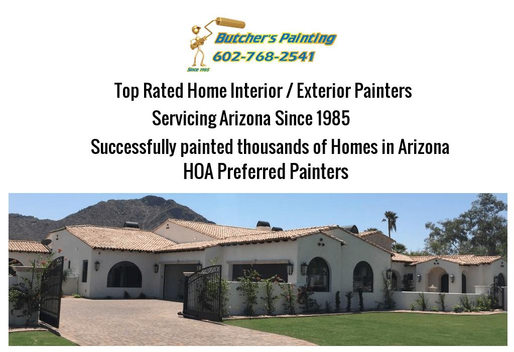 Apache Junction, AZ HOA Painting Company - Butcher's Painting