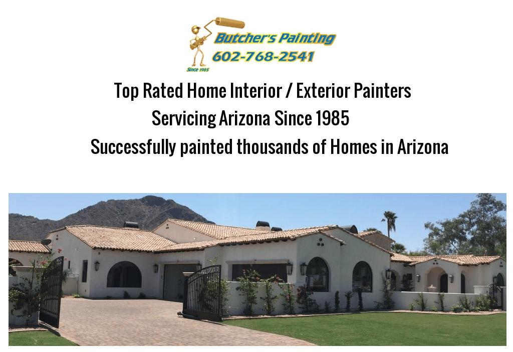 North Phoenix, AZ Interior House Painting Company - Butcher's Painting