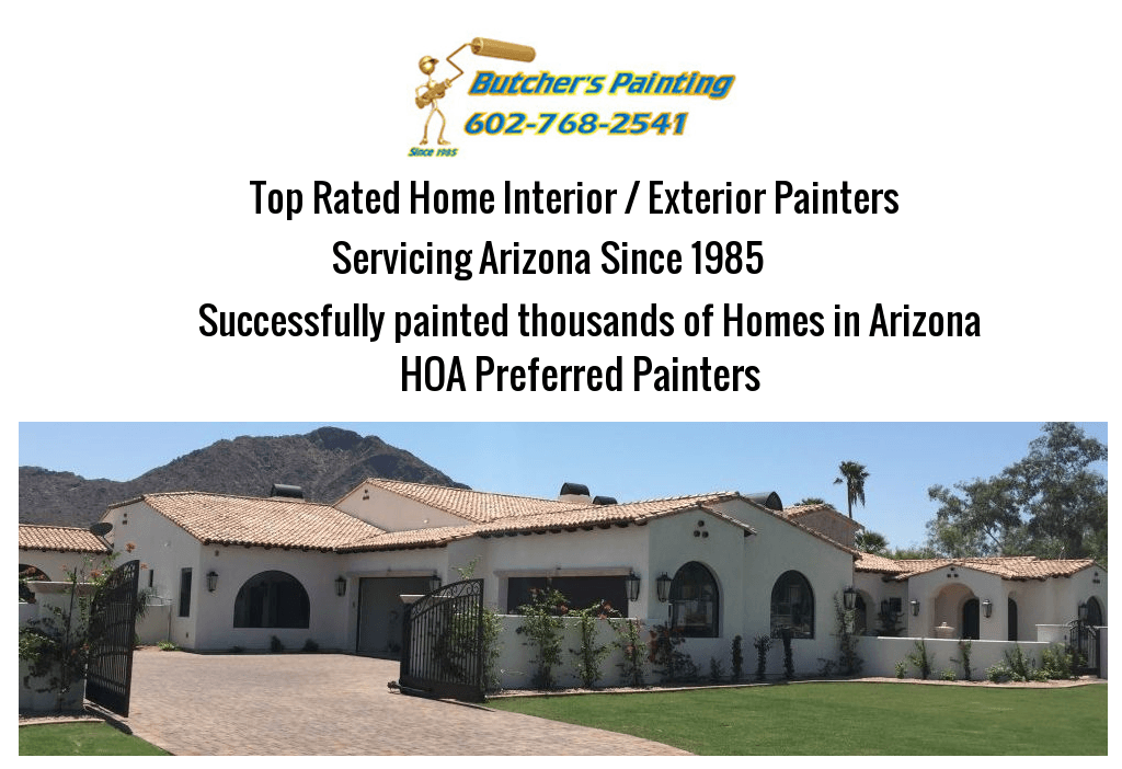 Paradise Valley, AZ HOA Painting Company - Butcher's Painting